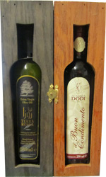 Terra Rossa - Sinolea and Balsamic Vinegar in Wooden Gift Box