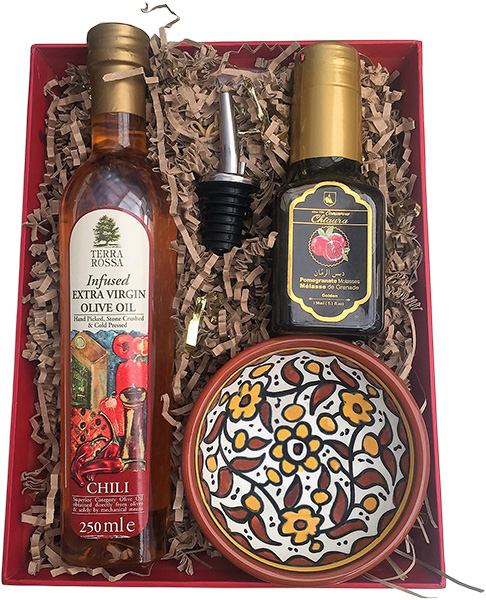 oil pomegranate molasses hamper extra virgin olive oil with a bottle ...